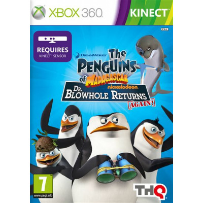 Penguins of Madagascar: Dr, Blowhole Returns Again! (только для MS Kinect) [Xbox 360, русская документация]
