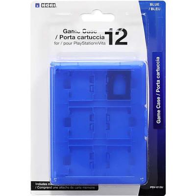 PS Vita: Футляр Hori для 12 игровых флэшкарт (синий) (PSV-013U)