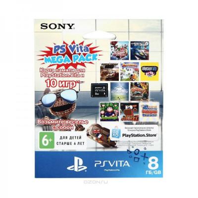 PS Vita: Комплект «PSN код активации 10 детских игр» + Карта памяти 8 Гб