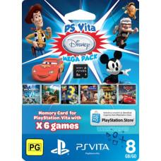 PS Vita: Комплект «PSN код активации 6 игр. Disney Mega Pack» + Карта памяти 8 Гб