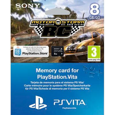 PS Vita: Комплект «PSN код активации MotorStorm RC» + Карта памяти 8 Гб