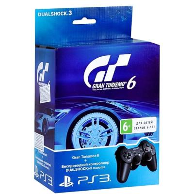 Комплект «Gran Turismo 6» [PS3, русская версия] + Контроллер игровой беспроводной черный (Dualshock Wireless Black: SCEE)