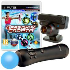 Комплект «Праздник Спорта 2 [PS3, русская версия]» + Камера PS Eye + Контроллер движений PS Move