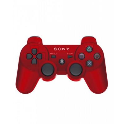 PS3: Контроллер игровой беспроводной красный (Dualshock Cont RUS TPT Red Blister: CECH-ZC2R/RQ: SCEE)