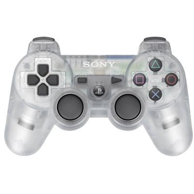 PS3: Контроллер игровой беспроводной прозрачный (Dualshock Wireless Controller Clear Crystal Blistered: CECHZC2ECY BLR: SCEE)