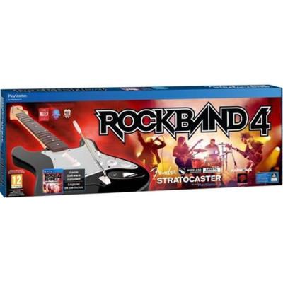 Комплект для Rock Band 4 (игра + беспроводная гитара Fender Stratocaster) [PS4, английская версия]