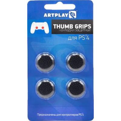 Накладки Artplays Защитные Thumb Grips на стики геймпада DualShock 4 для PS4 (4 шт, черные)