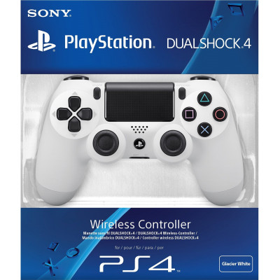 PS4: Контроллер игровой беспроводной белый (Dualshock 4 Cont Glacier White: CUH-ZCT1E: SCEE)