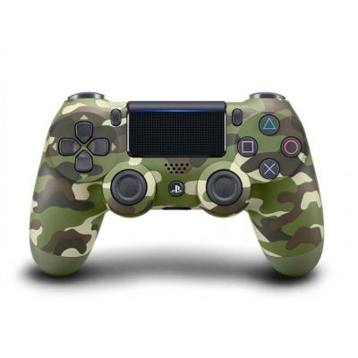 PS4: Контроллер игровой беспроводной камуфляжный (Dualshock 4 Cont Green Cammo: CUH-ZCT2 / E16R: SCEE)