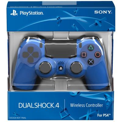 PS4: Контроллер игровой беспроводной синий (Dualshock 4 Cont Wave Blue: CUH-ZCT1: SCEE)