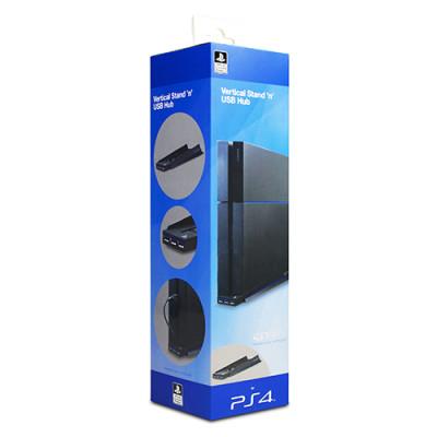 Подставка 4gamers Stand 'n' USB Hub вертикальная для консоли с разветвителем USB [PS4]