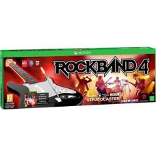 Комплект для Rock Band 4 (игра + беспроводная гитара Fender Stratocaster) [Xbox One, английская версия]