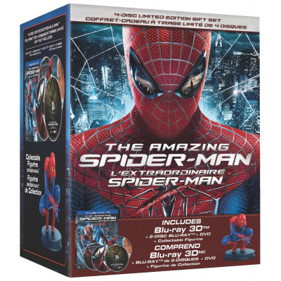 The Amazing Spider-Man 3D: Limited Edition Collector's Set [Blu-ray 3D + Blu-ray + DVD]