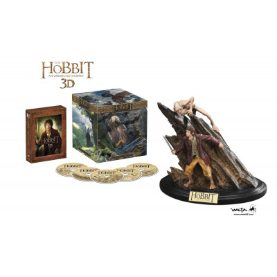 The Hobbit: An Unexpected Journey Extended Edition with Bilbo/Gollum Statue [Blu-ray 3D + Blu-ray + UltraViolet]