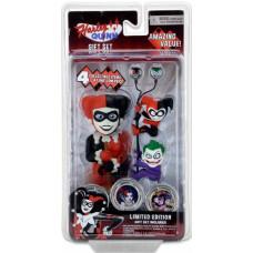 Набор DC Comics Harley Quinn (Фигурка на солнечной батарее, наушники, держатели проводов 2 шт)
