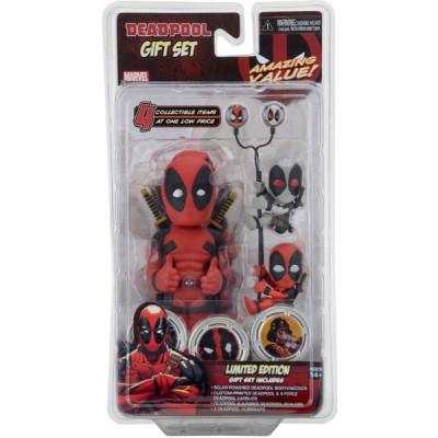 Набор Marvel Deadpool (Фигурка на солнечной батарее, наушники, держатели проводов 2 шт)