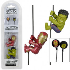 Наушники Avengers Age of Ultron Hulk and Iron Man (в комплекте с держателями проводов)